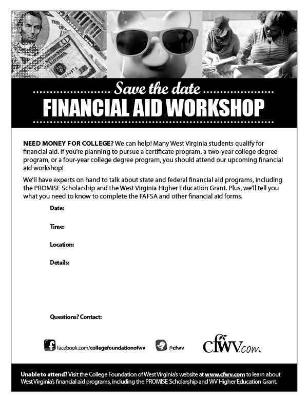 Financial Aid Workshop Digital Toolkit - Flyer Template