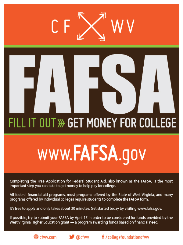 fafsa community flyer cfwv resources