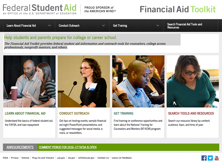 Federal Student Aid Toolkit